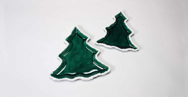 Christmas Tree Dish Set