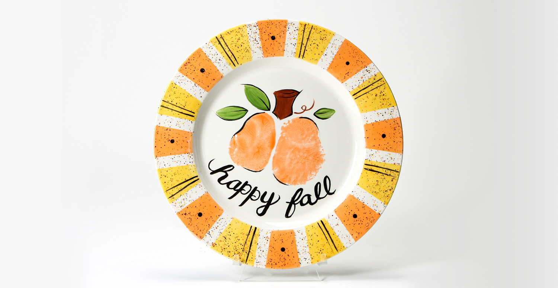 Happy Fall Bumkin Plate