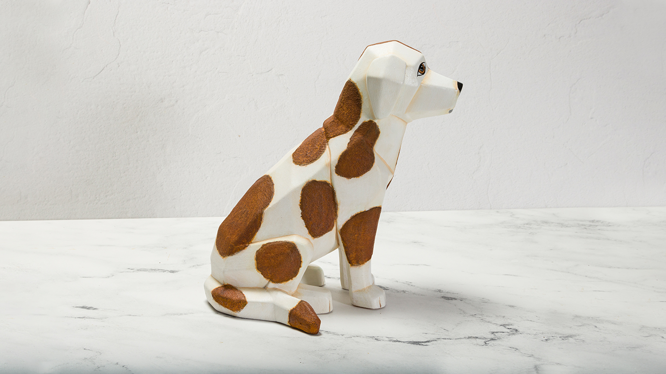 Rusty Spotted Faceted Dog